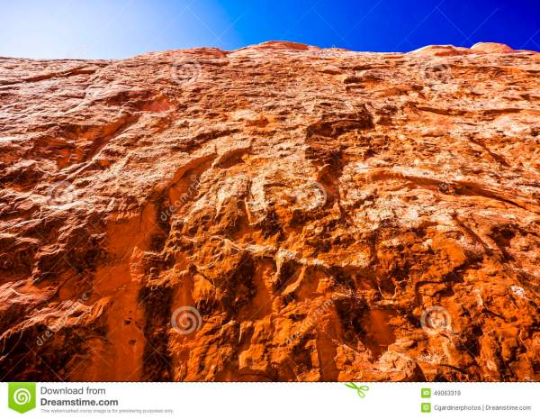 Scenic Sandstone Formations Of Arches National Park Utah
