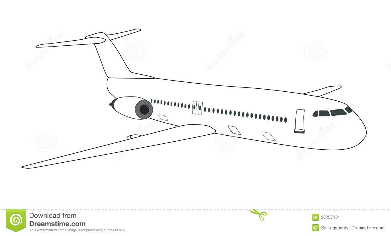 Airplane Schematic With Labels