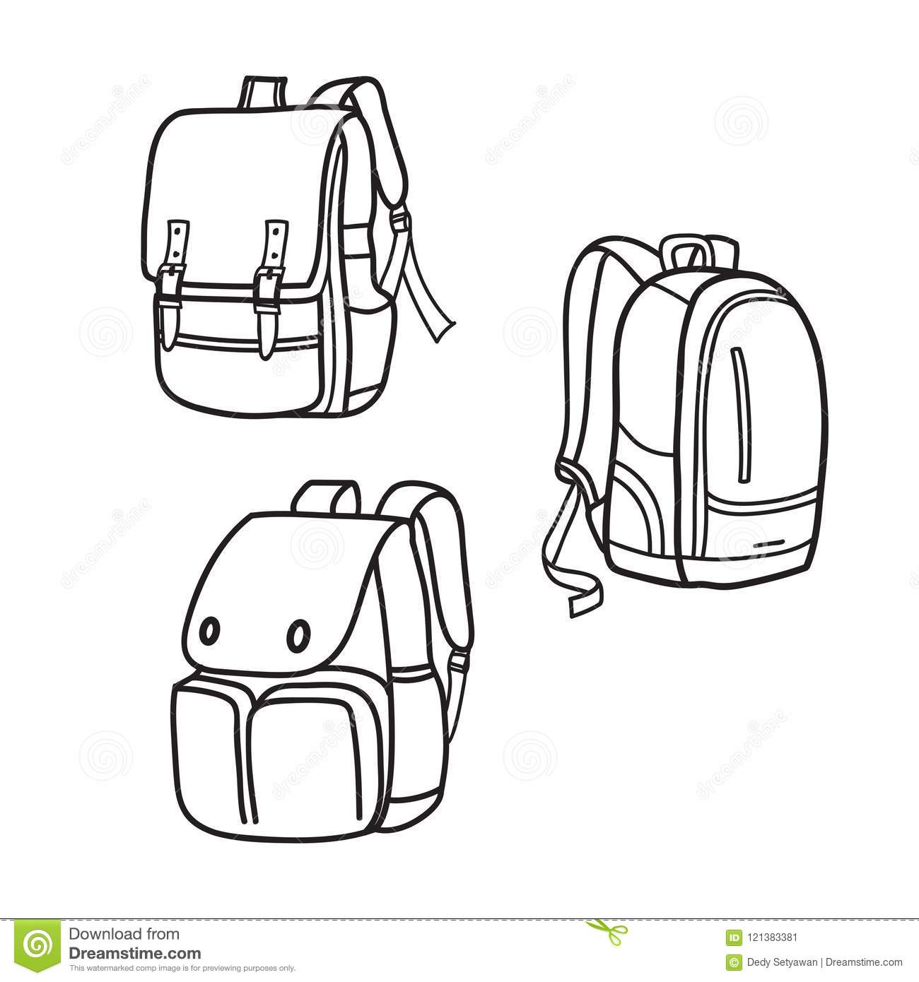 Backpack Outline Worksheet
