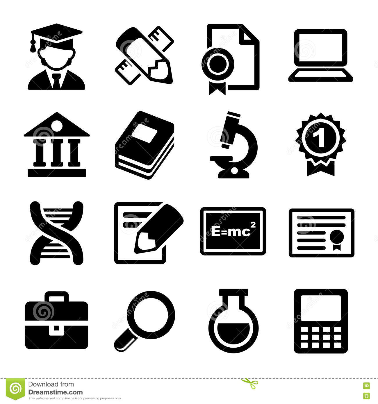 School And Education Icons Set Royalty Free Stock