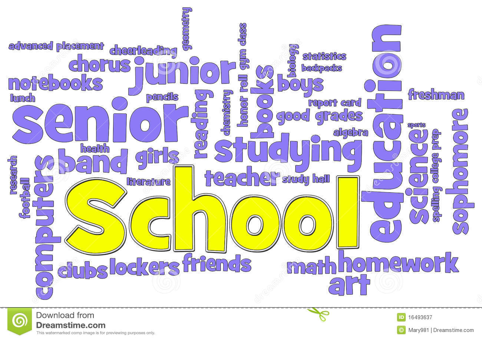 School Word Cloud Stock Illustration Illustration Of Word