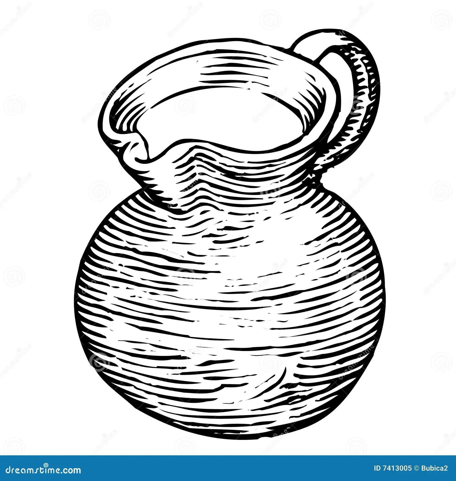 Schwarzweiss Weinglas Vektor Abbildung Illustration Von