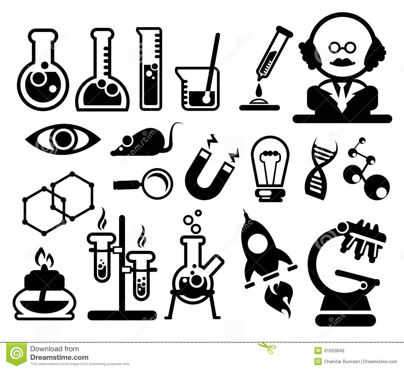 Science Icons Set Stock Vector