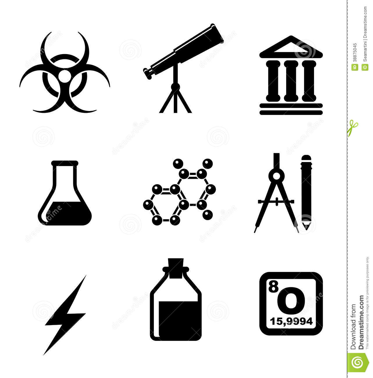 Science Icons And Symbols Stock Vector