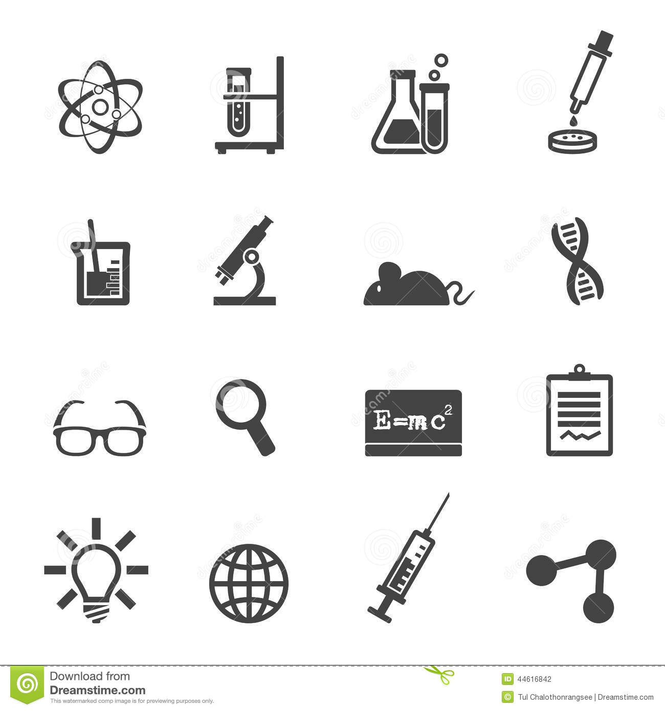 Science And Laboratory Icons Stock Illustration