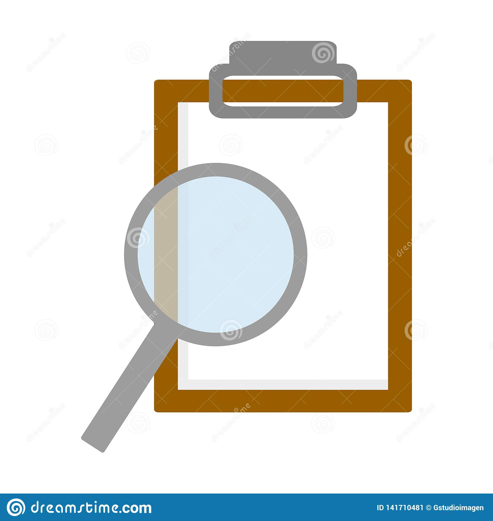 Science Magnifying Glass Report Stock Vector