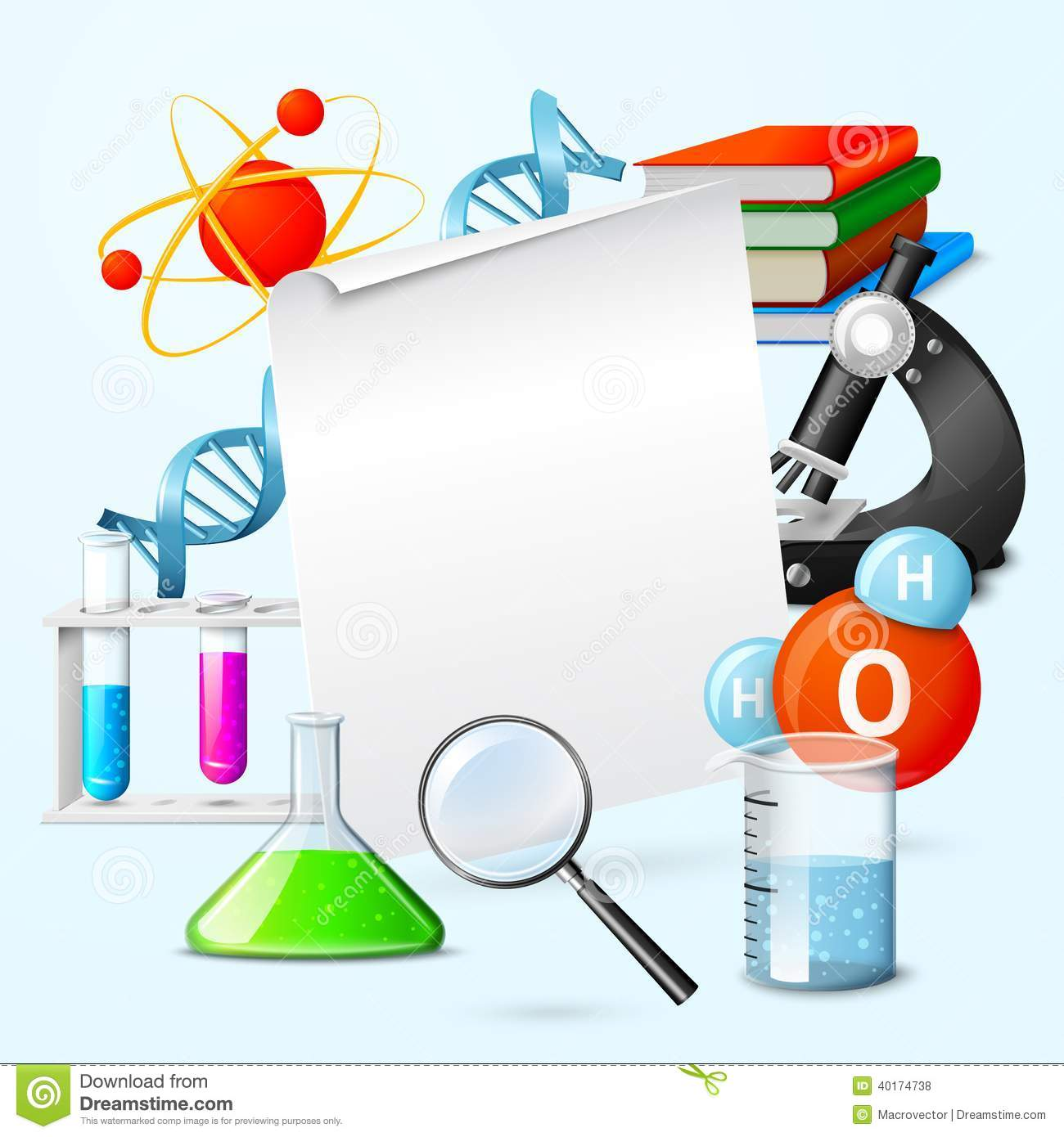 Science Realistic Frame Stock Vector