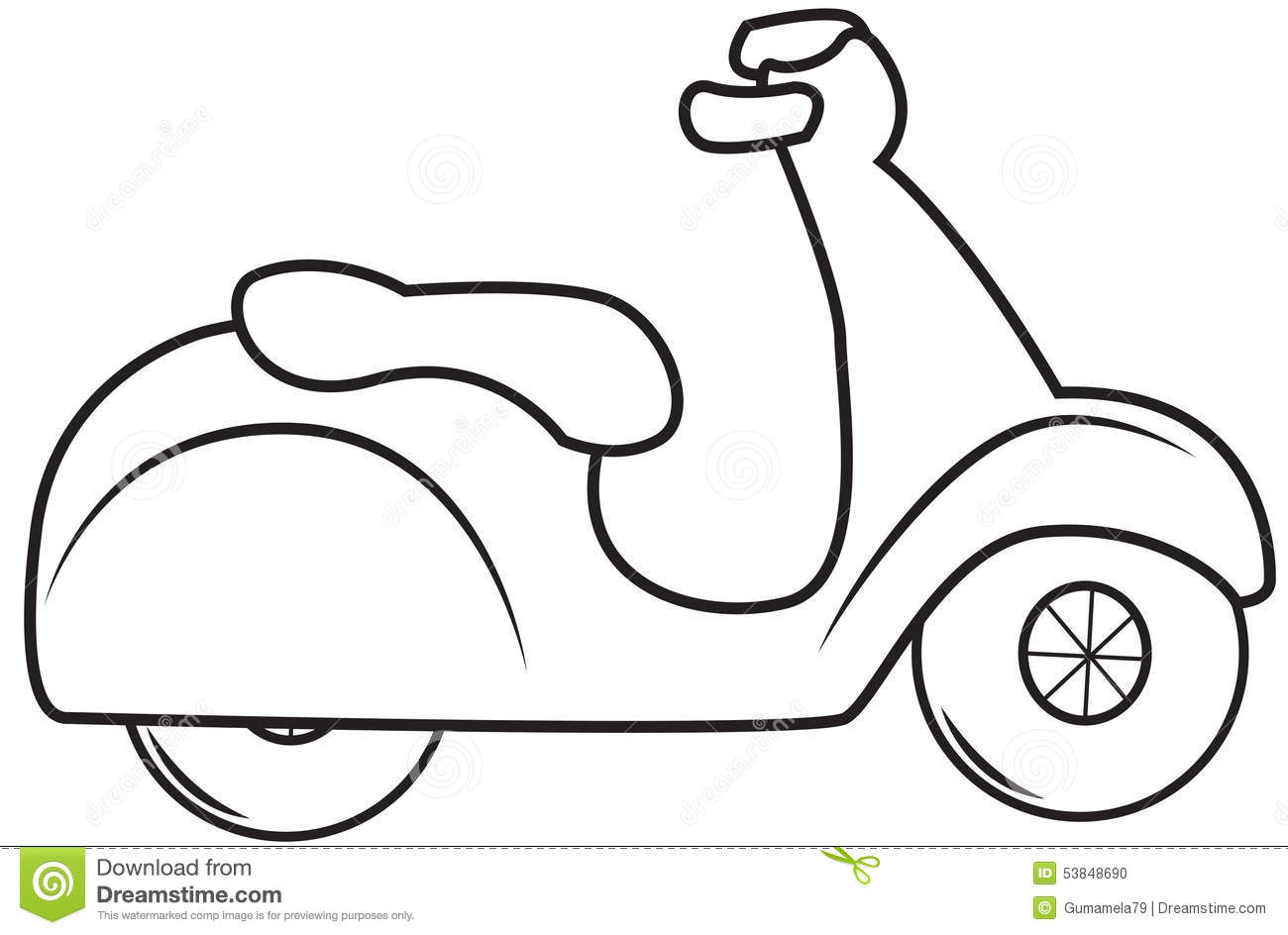 Coloring Pictures Of Scooters Coloring Pages
