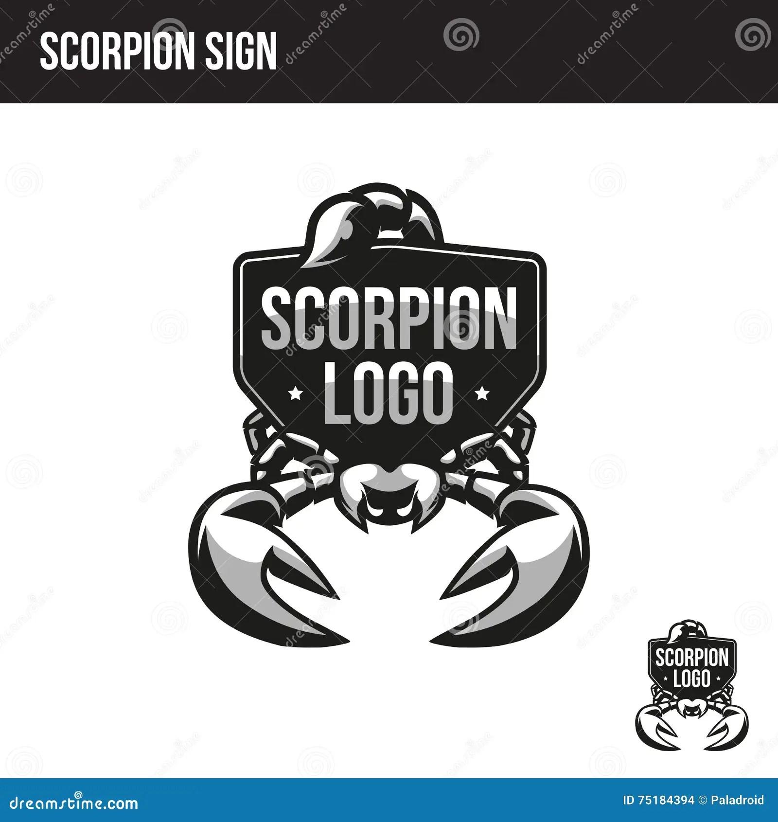 Scorpion Logo Design Vector Illustration