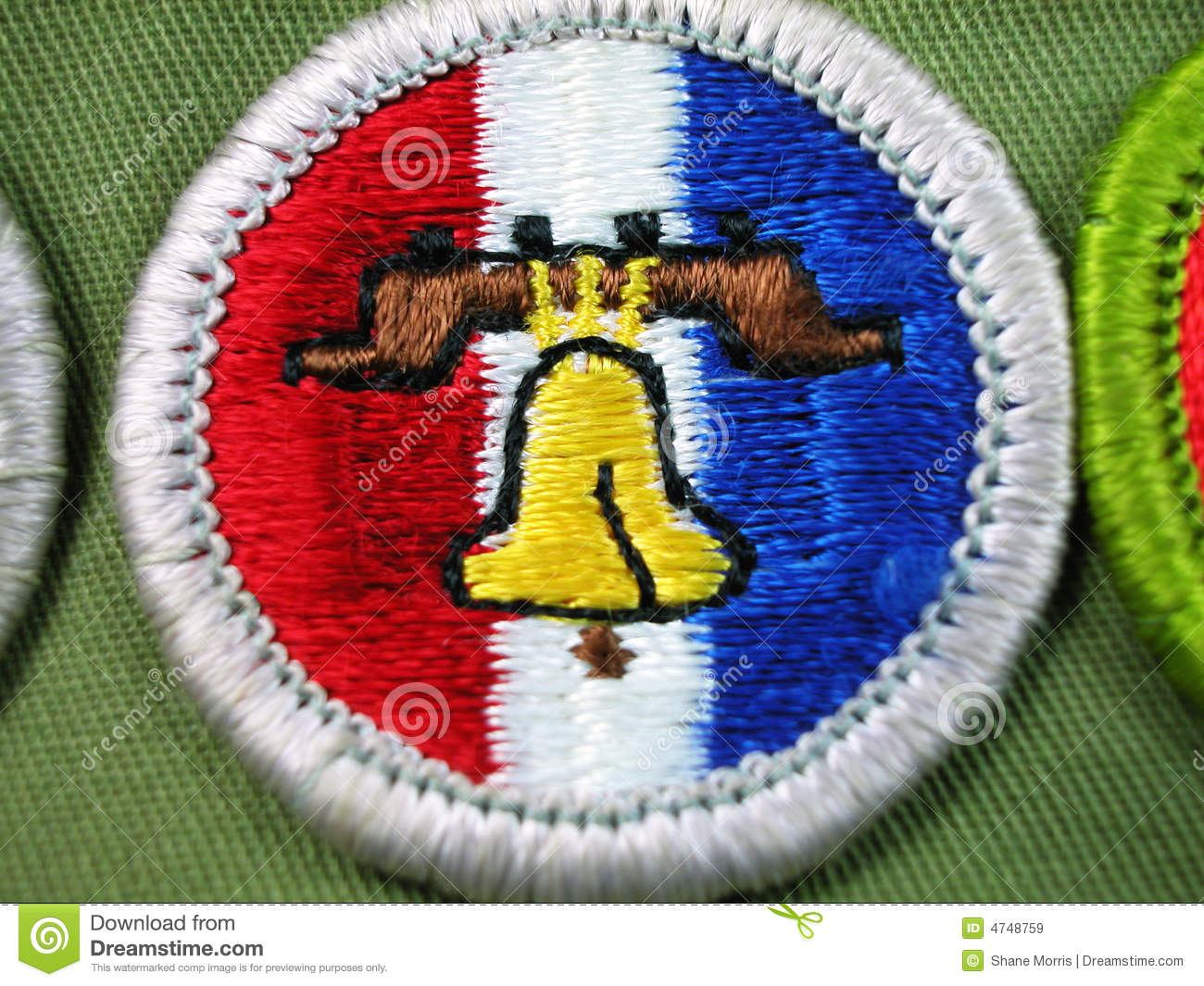 Scout Merit Badge Liberty Bell Royalty Free Stock Images