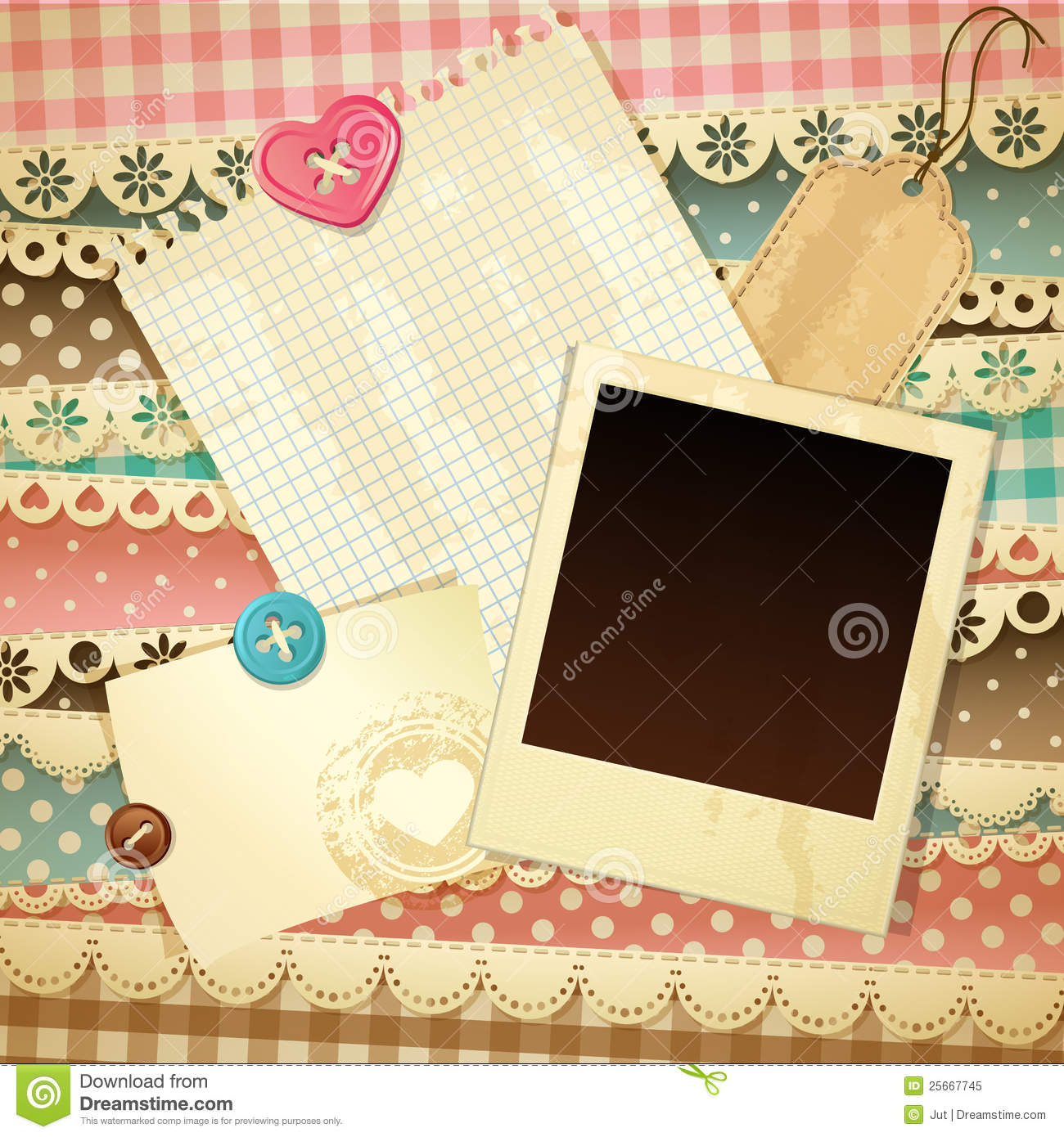 Scrapbook Template Stock Vector Illustration Of Page