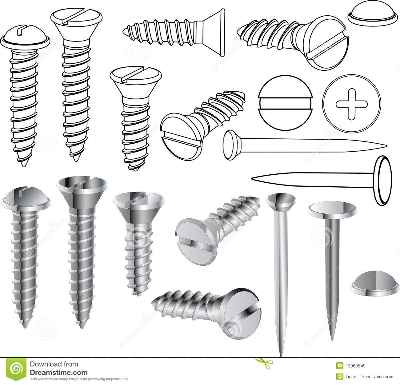 Screws And Nails Royalty Free Stock Images