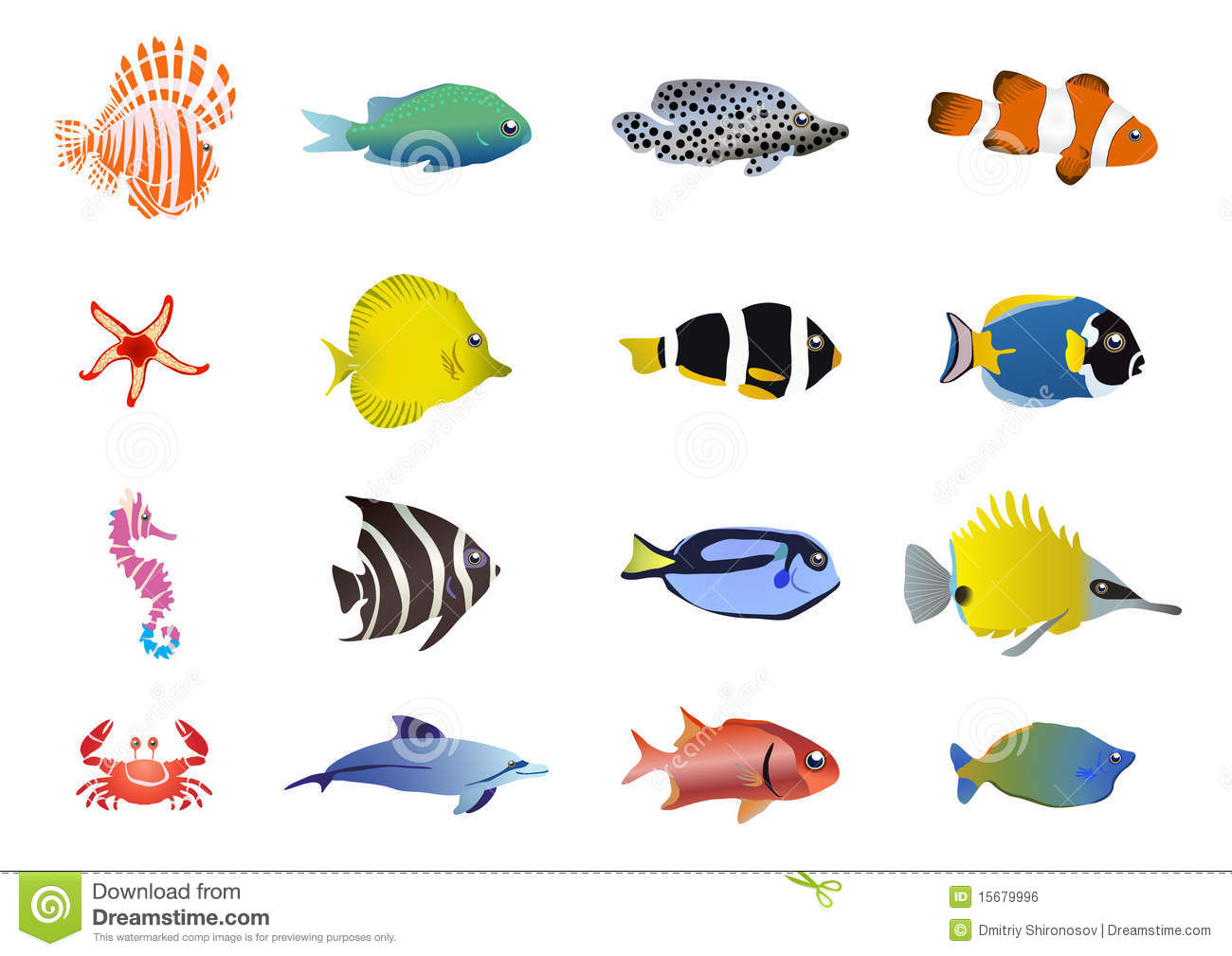 Sea Creatures Stock Illustration Illustration Of Marine