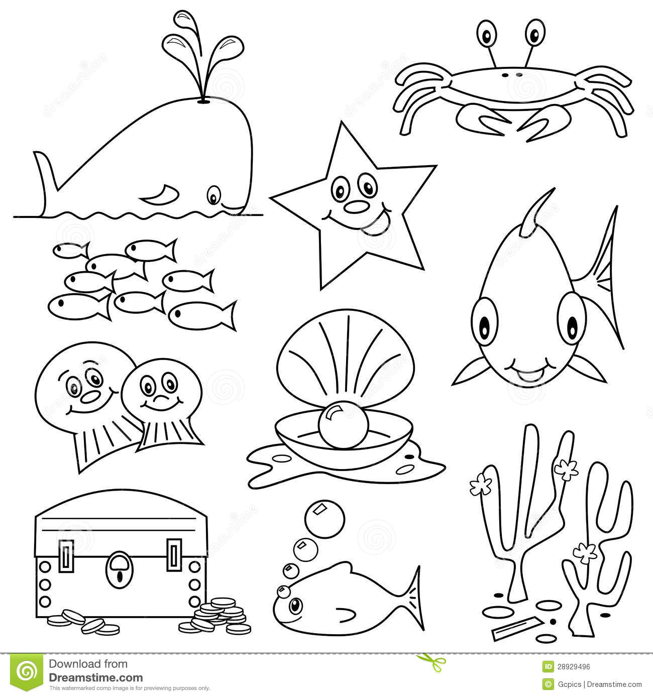 Sea Life Cartoons Stock Vector Illustration Of Animal