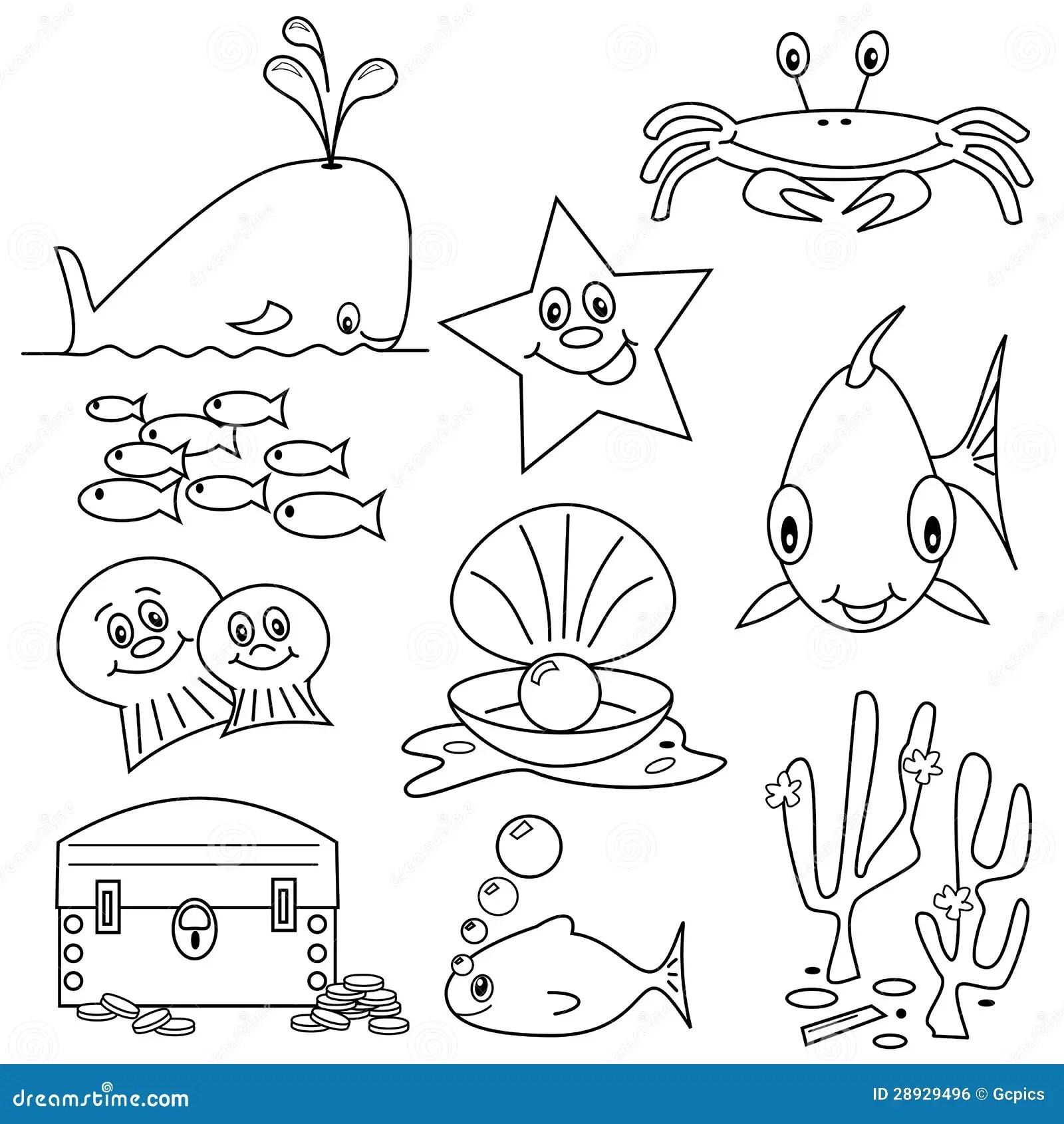 Sea Life Cartoons Royalty Free Stock Image