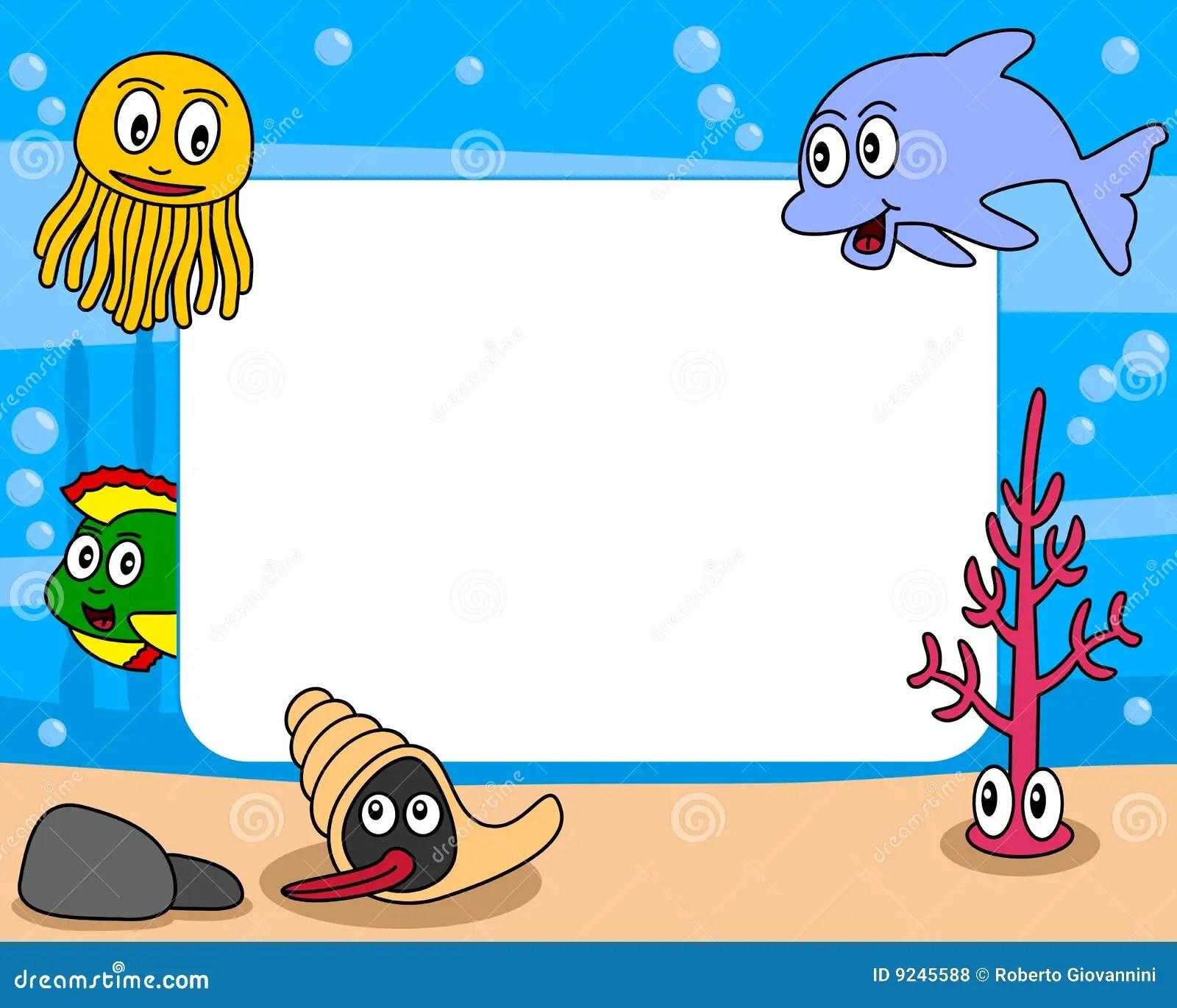 Sea Life Photo Frame 1 Royalty Free Stock Photos