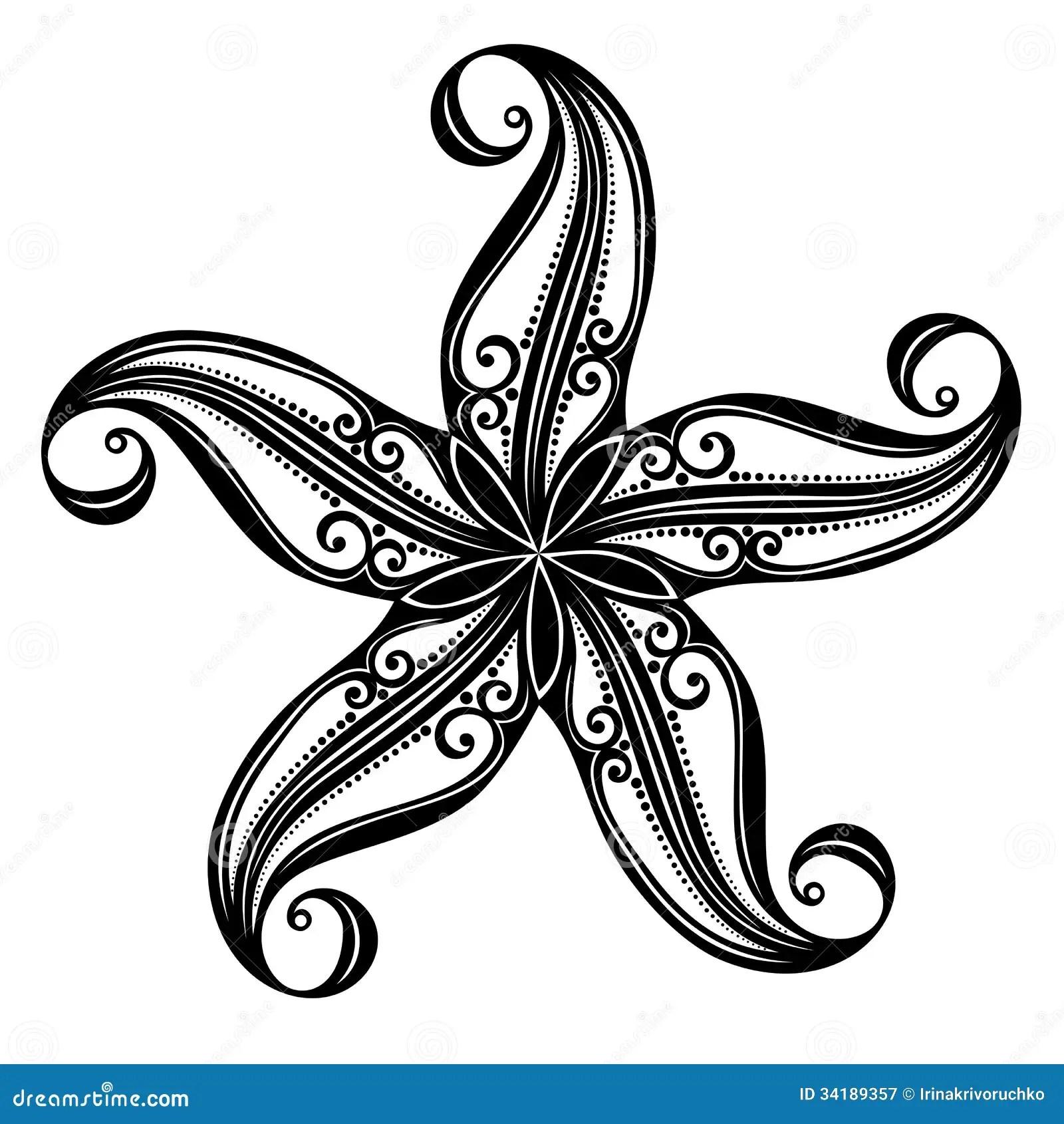 Sea Starfish Stock Vector Illustration Of Graphic
