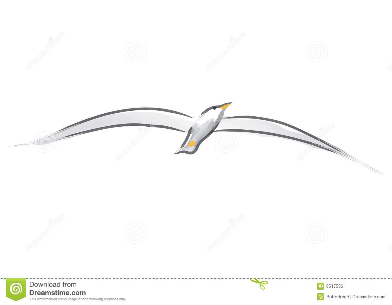 Seagull Vector Royalty Free Stock Image