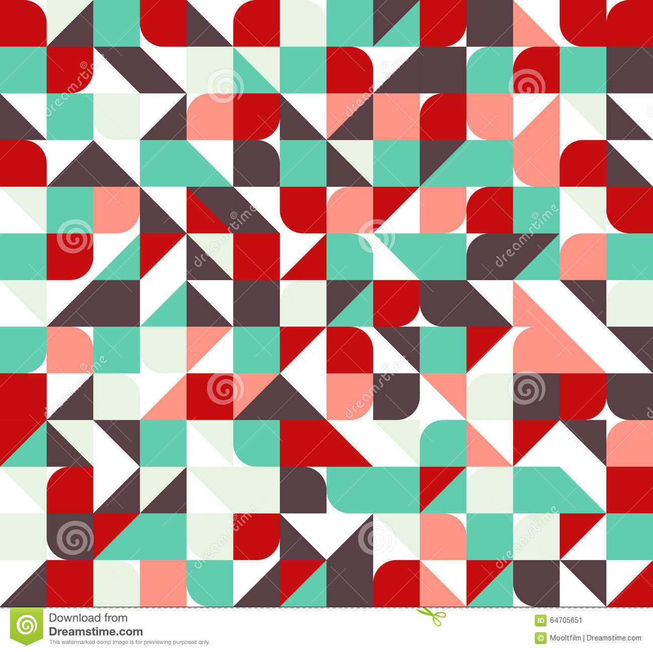 Seamless Abstract Geometric Pattern Stock Vector