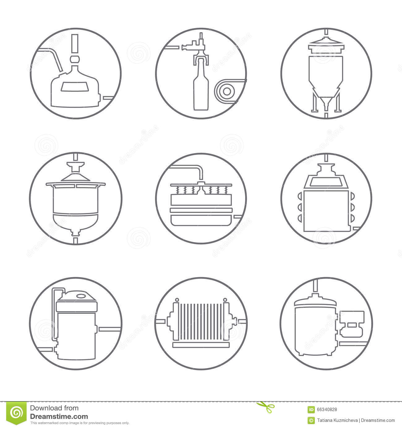 Beer Brewing Process Infographic Flat Style Cartoon