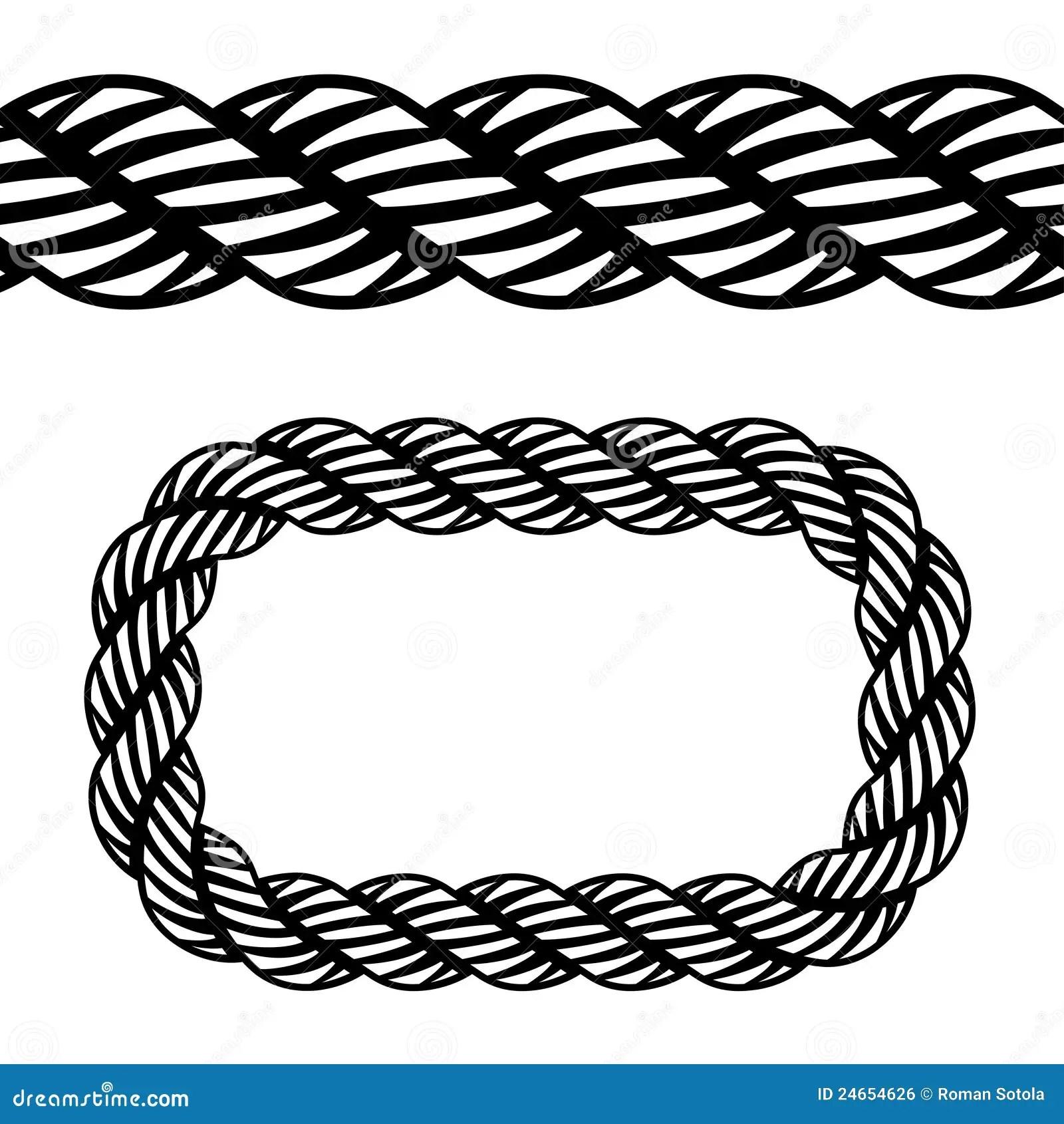 Seamless Black Rope Symbol Royalty Free Stock Image