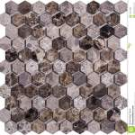 Seamless Brown Retro Style Hexagon Marble Mosaic Pattern Stock Photo Image Of Diamondshaped Glass 103010802