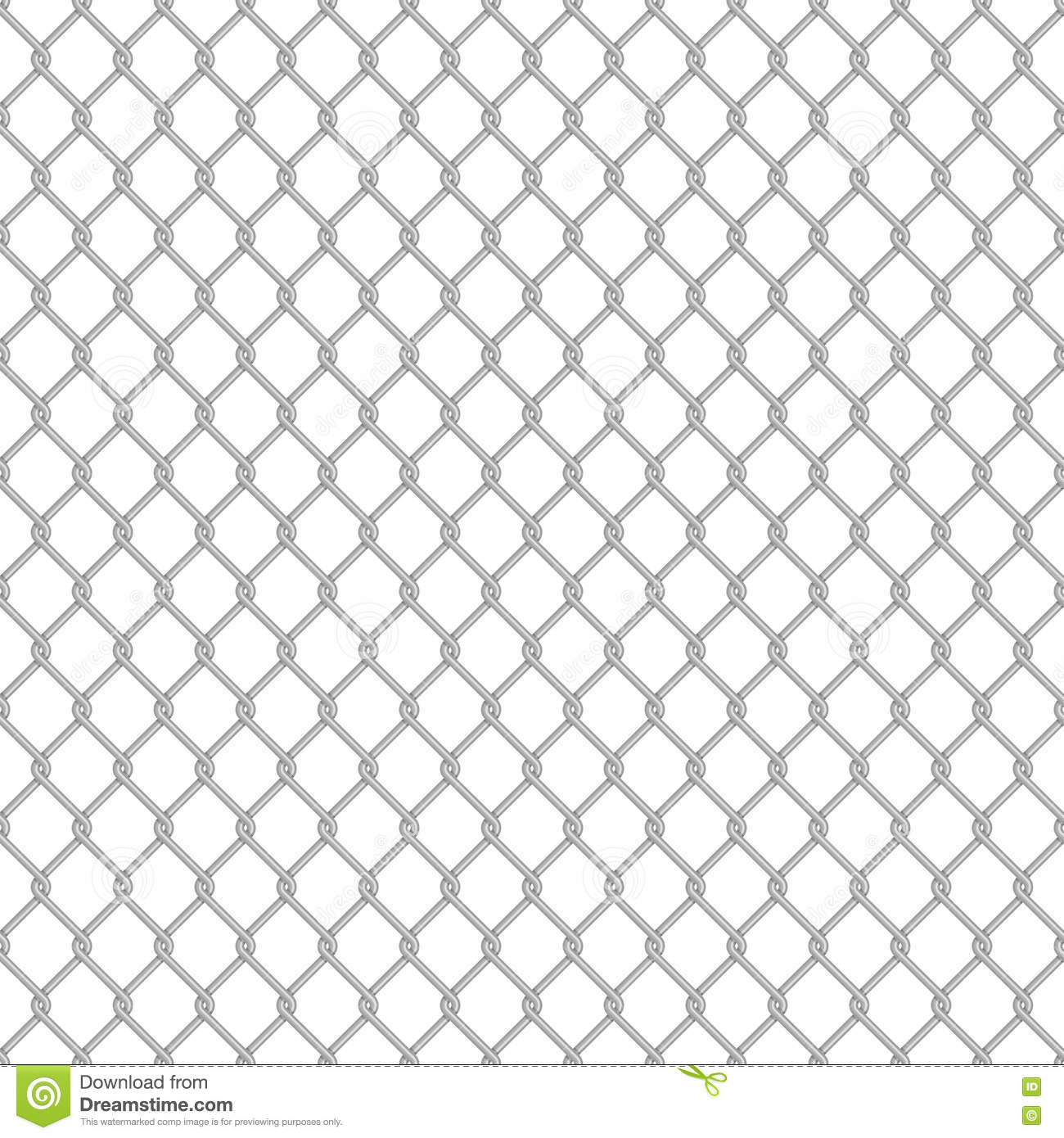 Chainlink Fence Seamless Stock Image