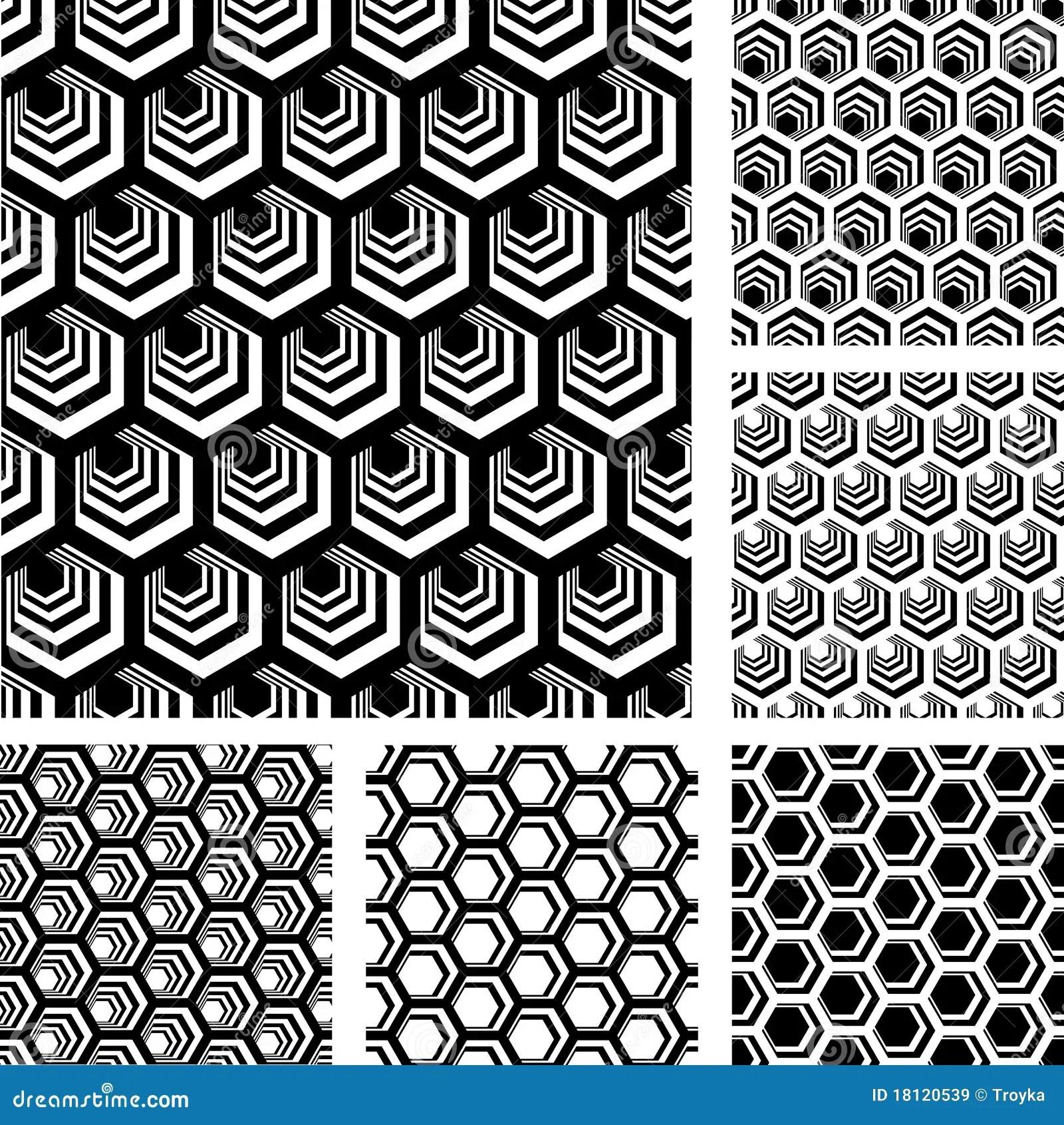 Seamless Geometric Patterns Set Royalty Free Stock Images