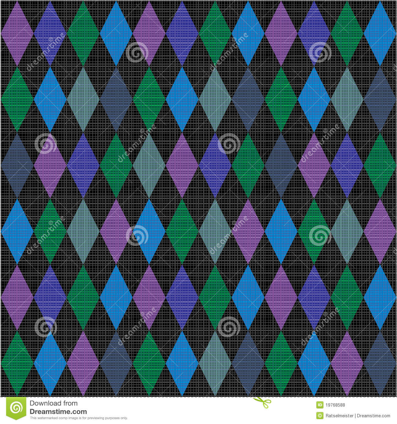 Seamless Harlequin Pattern Fabric Background Royalty Free