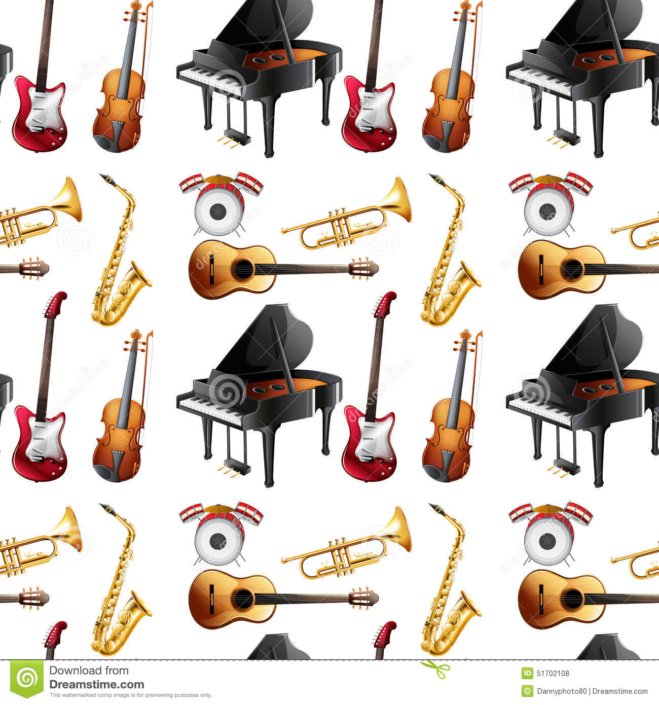 Seamless Instrument Stock Vector Illustration Of Base