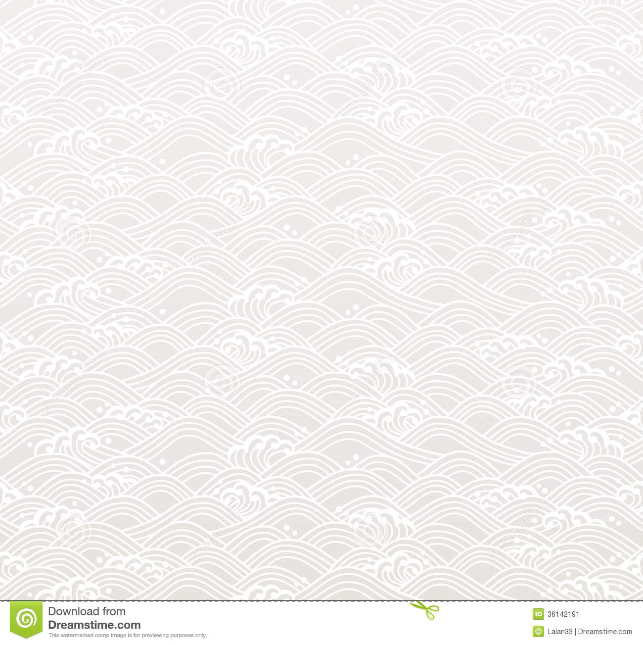 Seamless Ocean Wave Pattern Stock Image