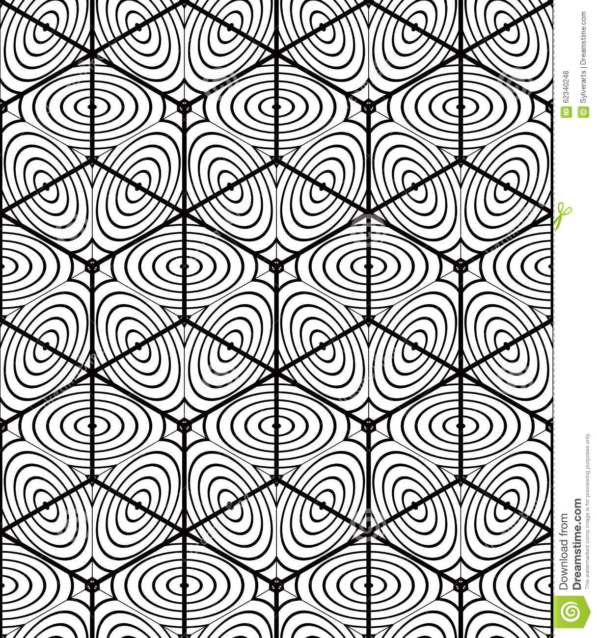 Seamless Optical Ornamental Pattern Three Dimensional Geometric Stock Vector