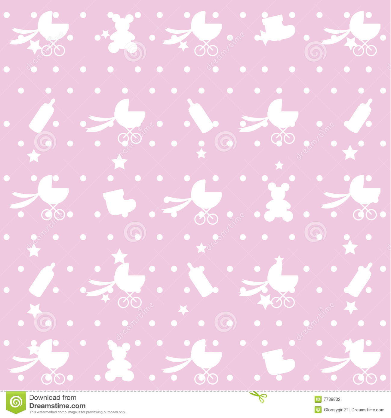 Seamless Pattern Of Baby Items Stock Photography Image