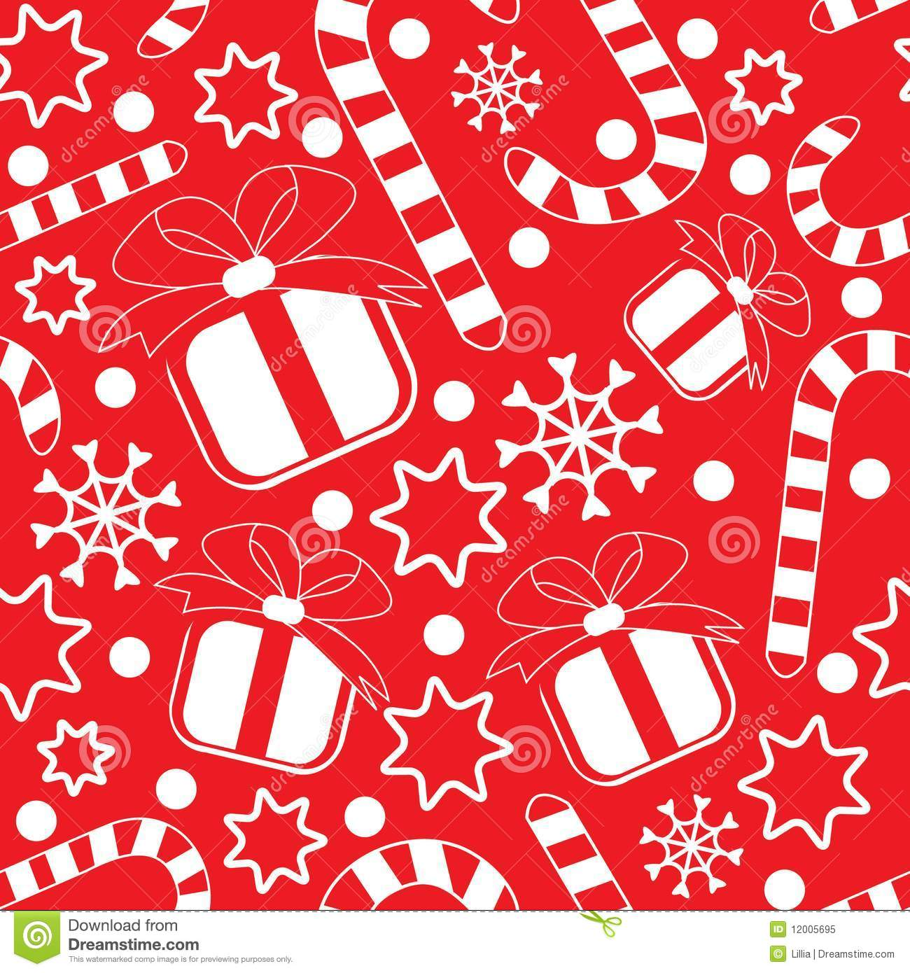 Seamless Pattern With Ts And Candy Canes Stock Vector