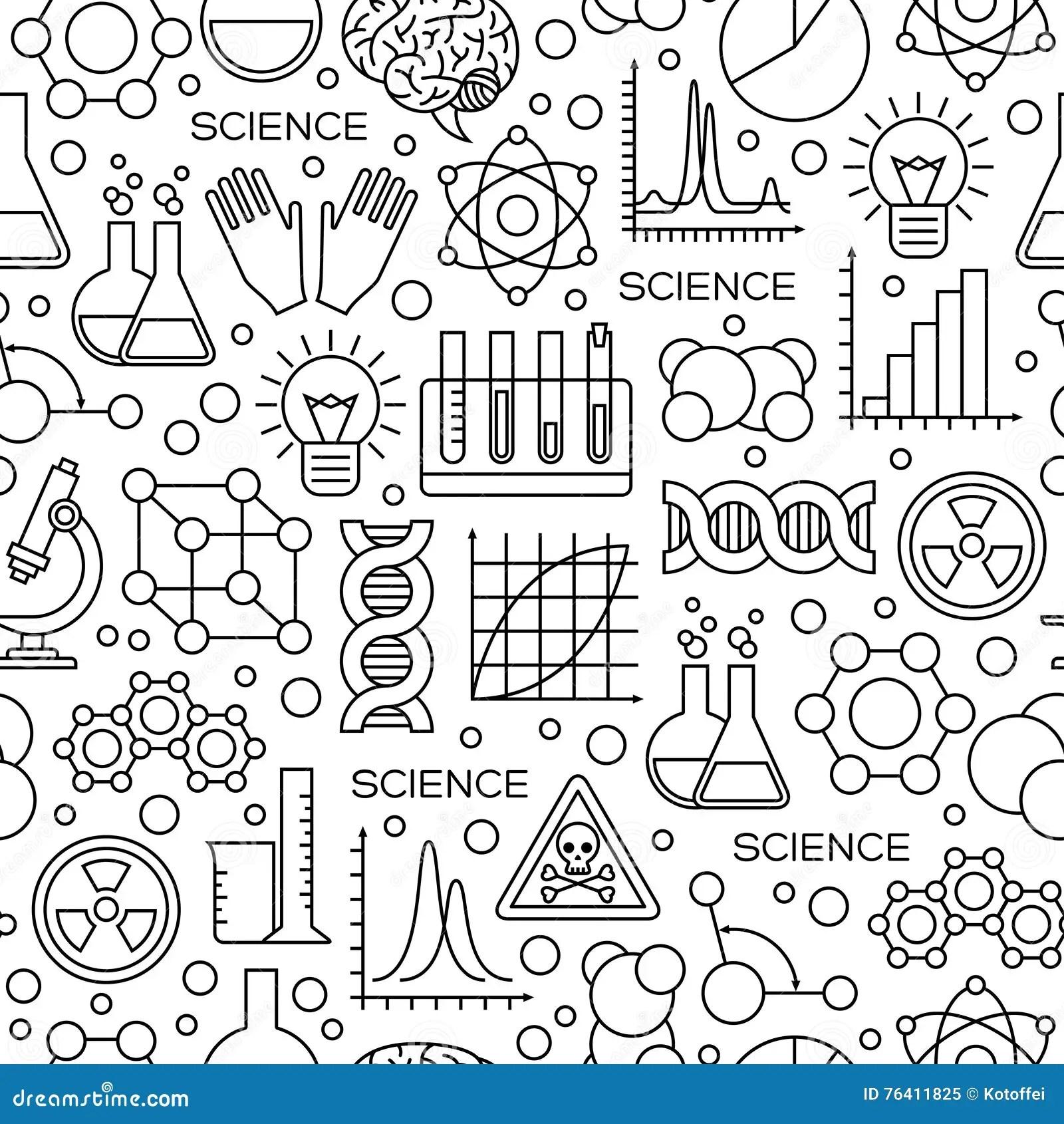 Science Laboratory Tools Flat Design Icons Set Vector