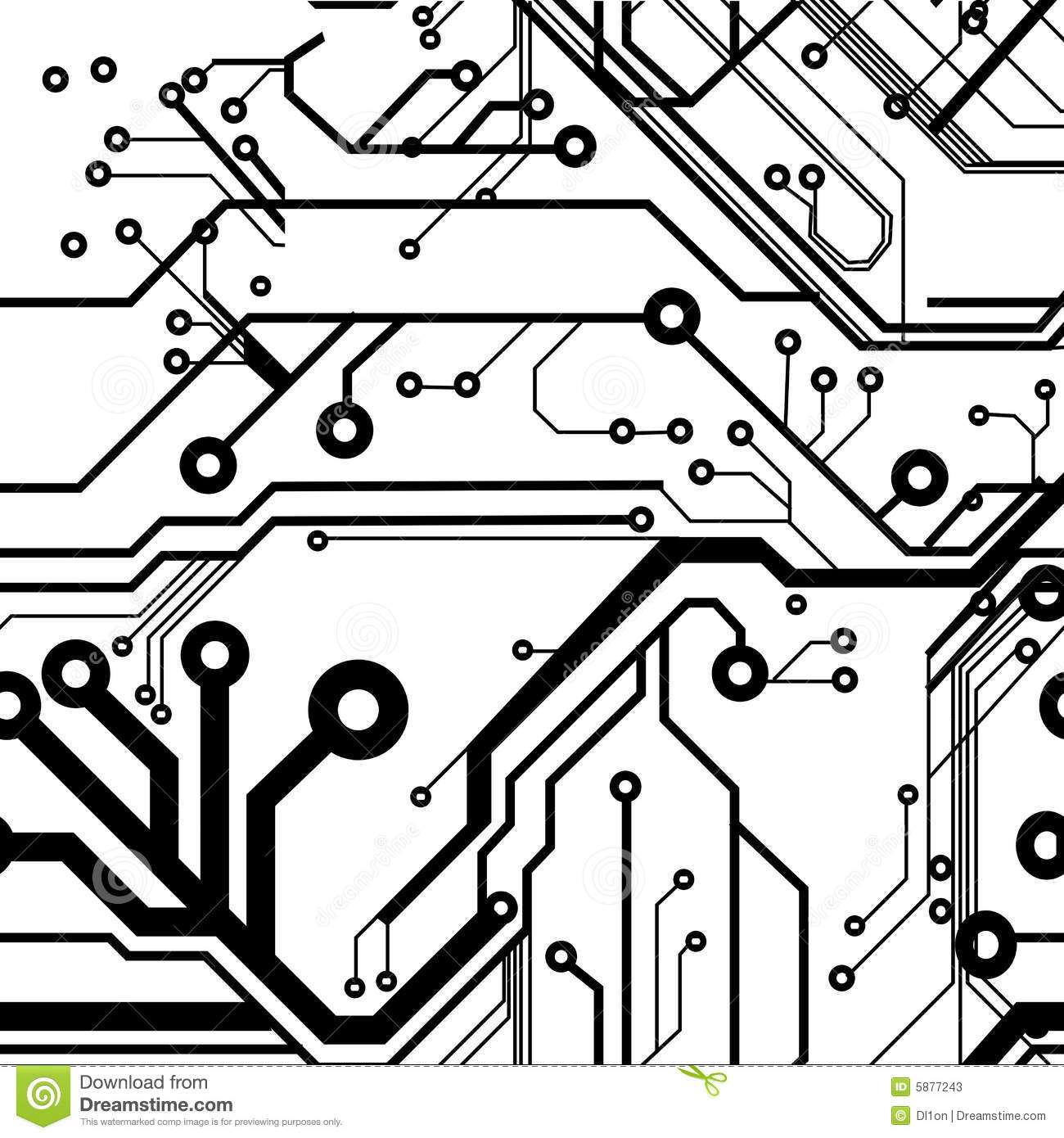 Seamless Printed Circuit Board Stock Vector