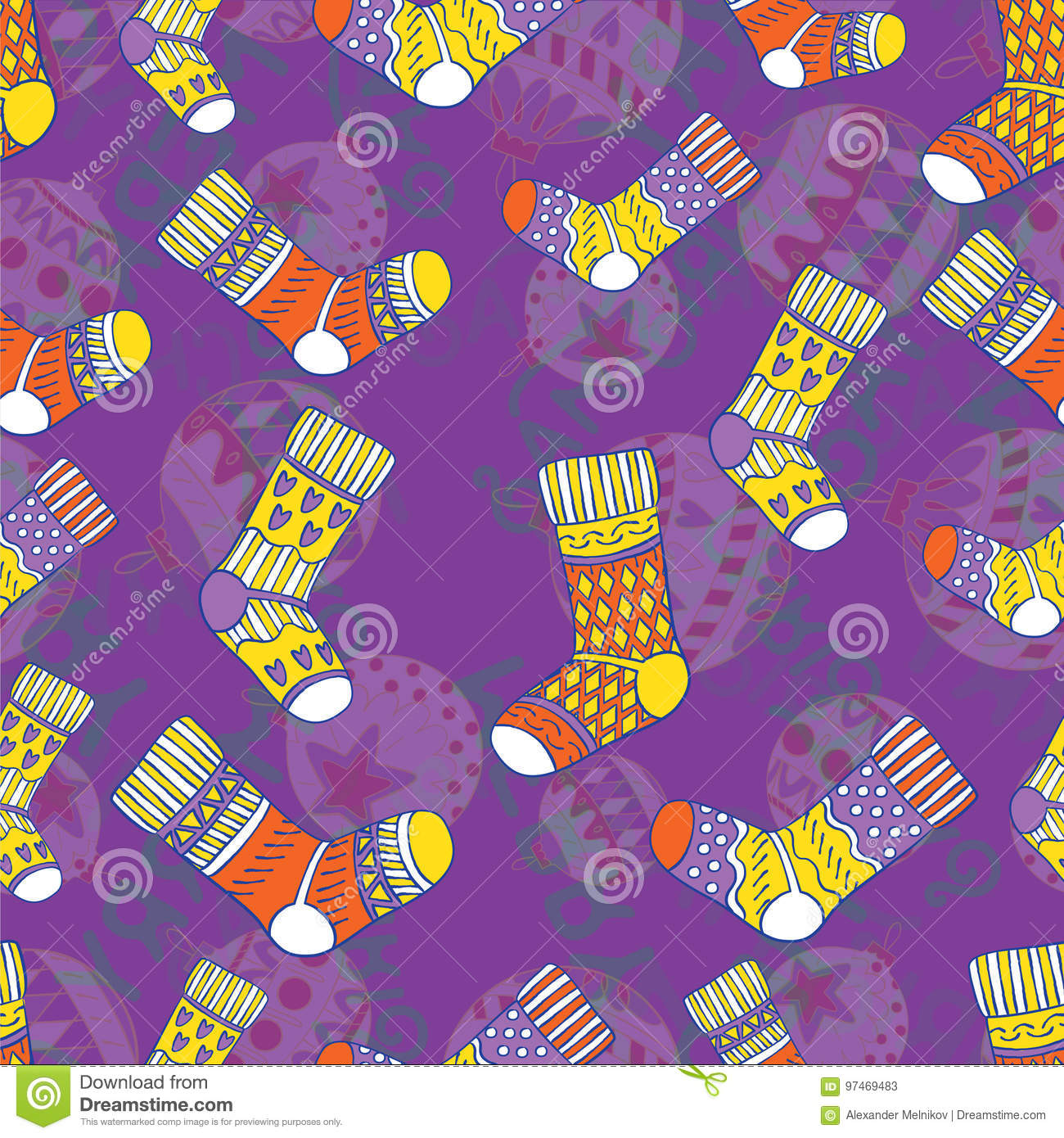 Seamless Repeating New Year Pattern Stock Vector
