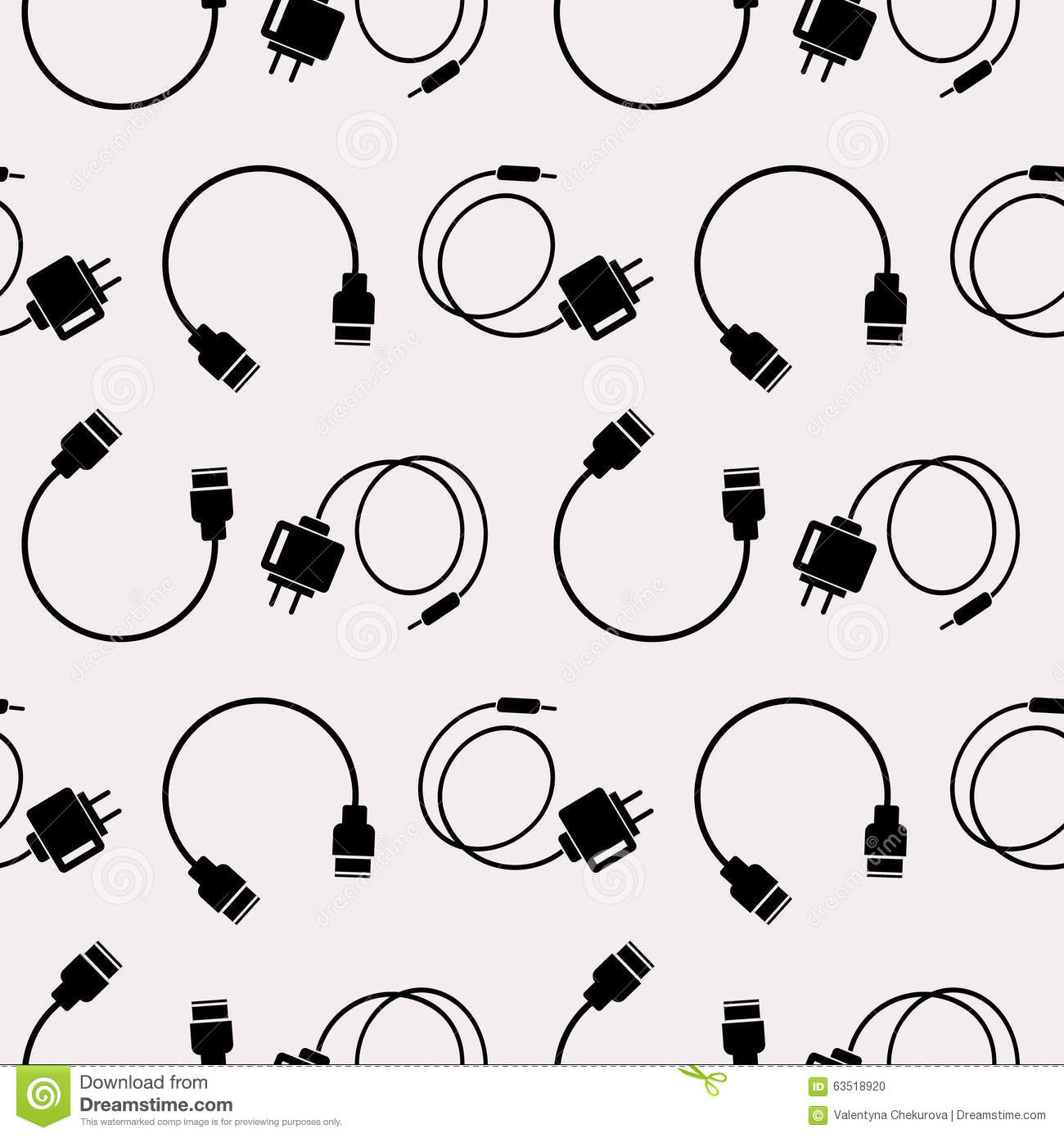 Seamless Technology Vector Pattern Chaotic Background
