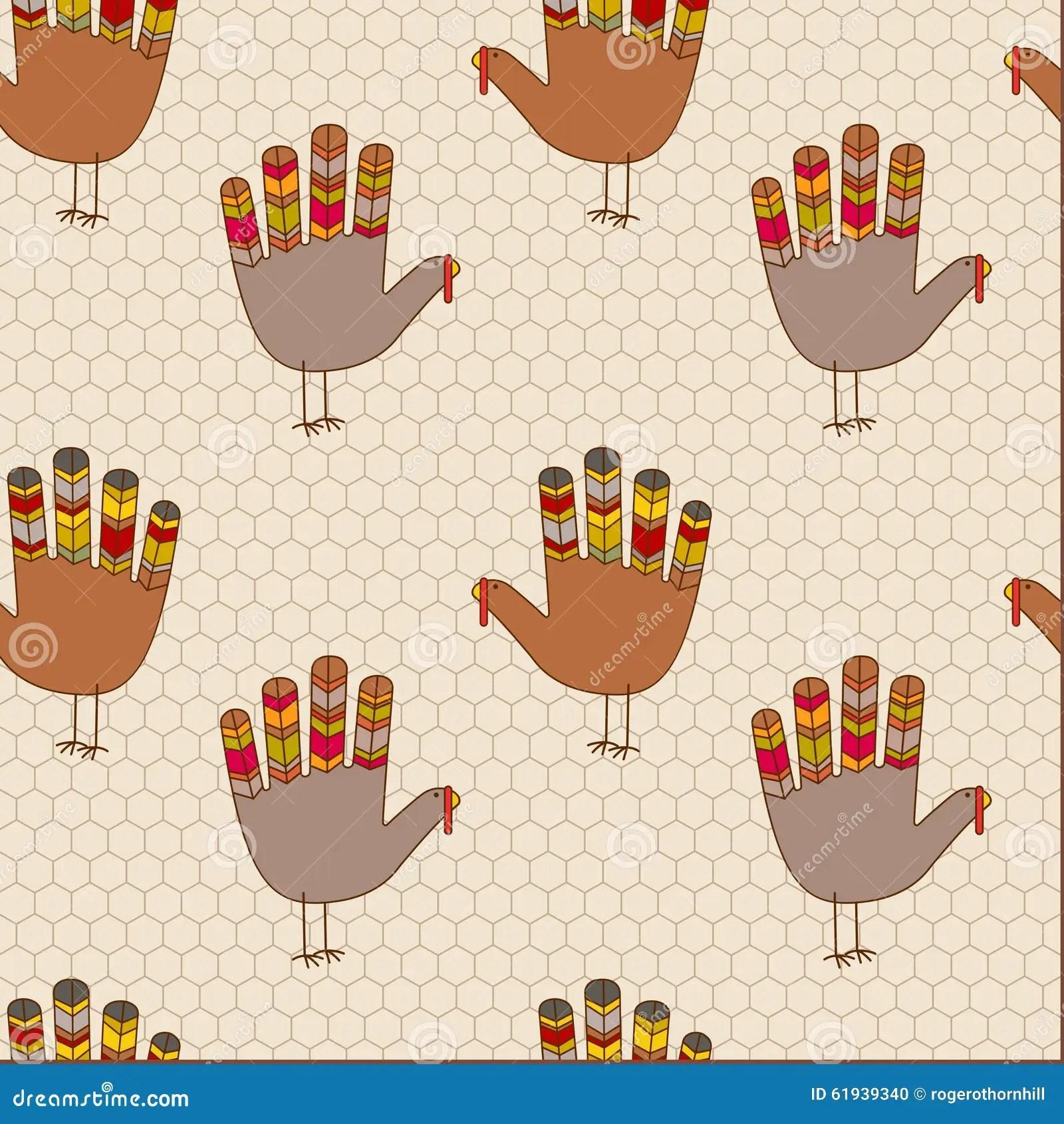 Seamless Thanksgiving Turkey Design Stock Vector