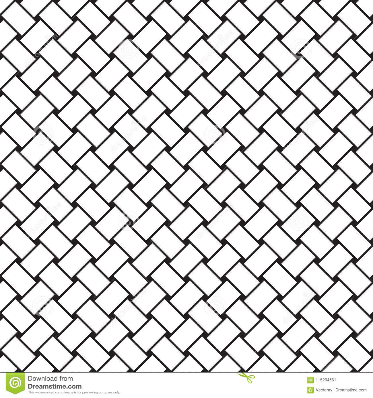 Seamless Vector Weave Pattern Background Stock Vector