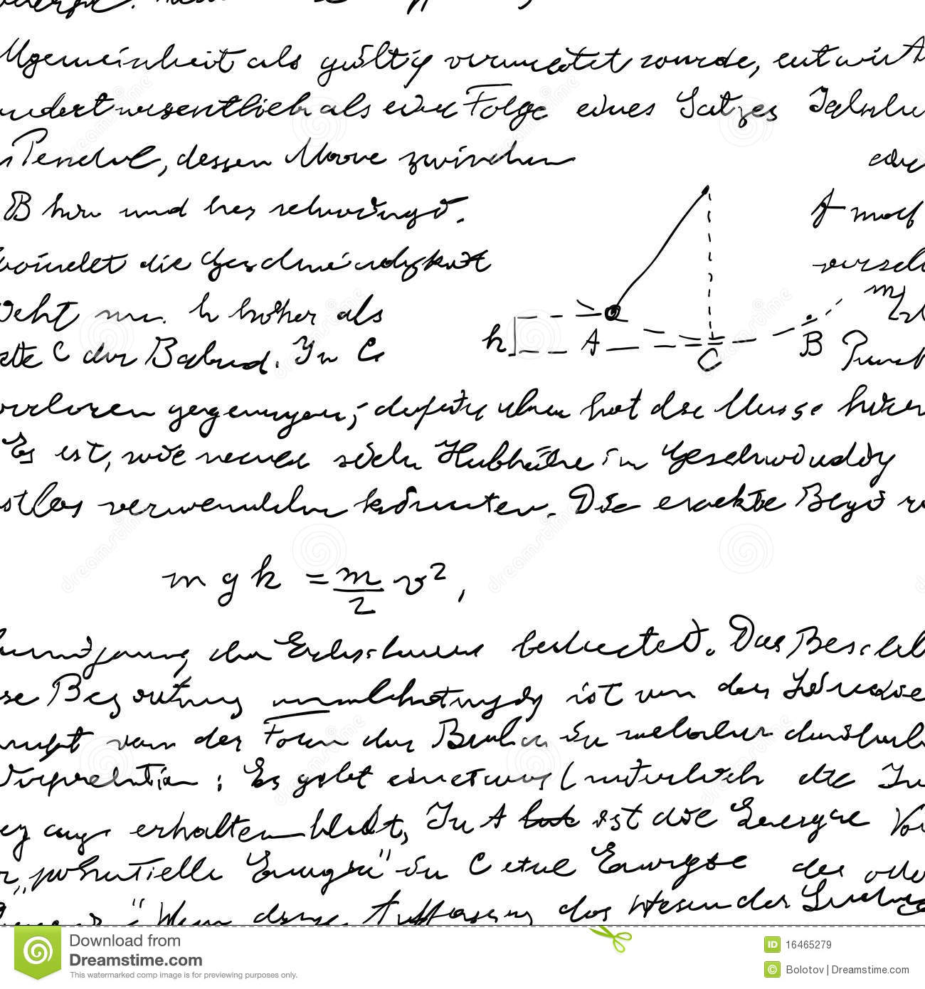 Seamless Wallpaper With Science Handwriting Royalty Free
