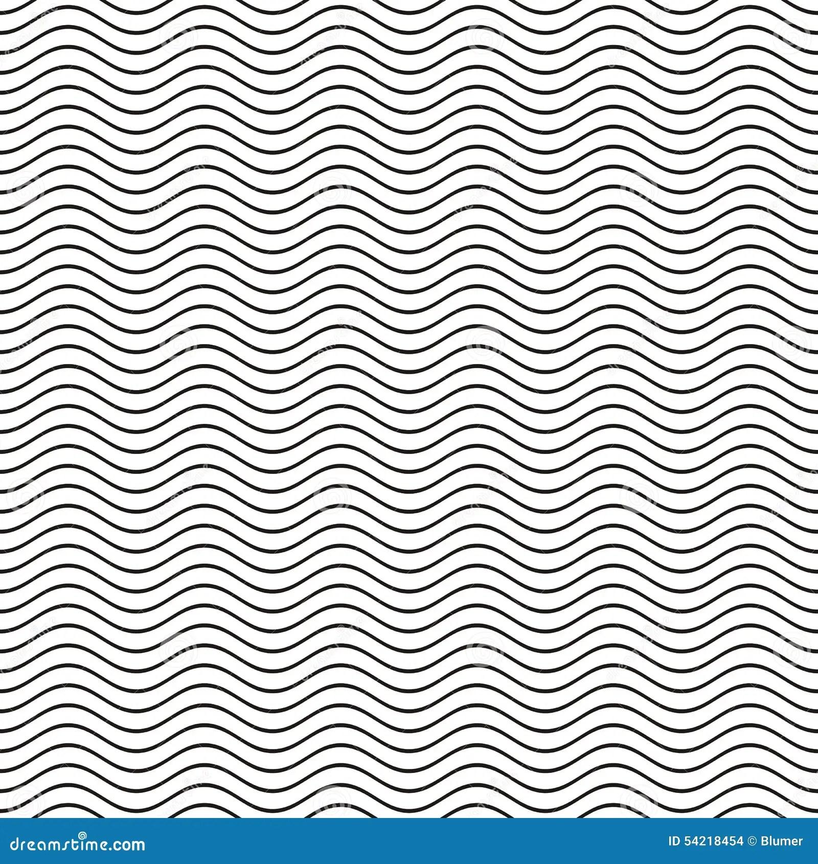 Seamless Wavy Pattern Cartoon Vector