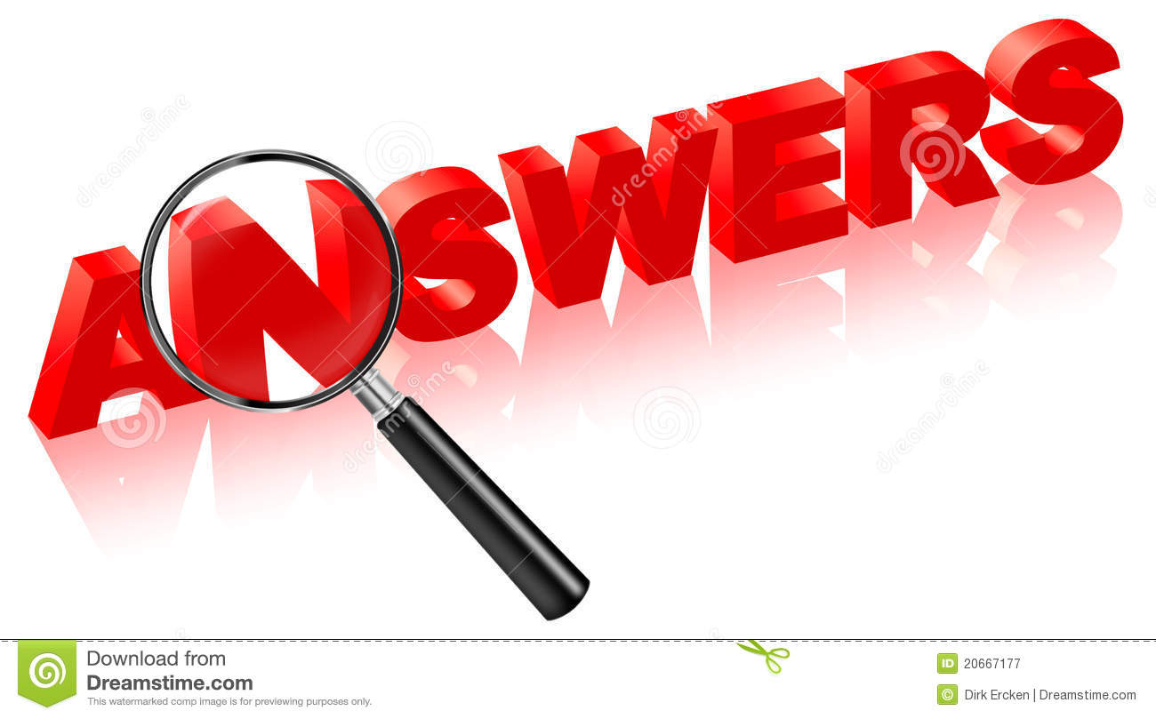 Search Answers On Questions Solve Problems Stock Illustration