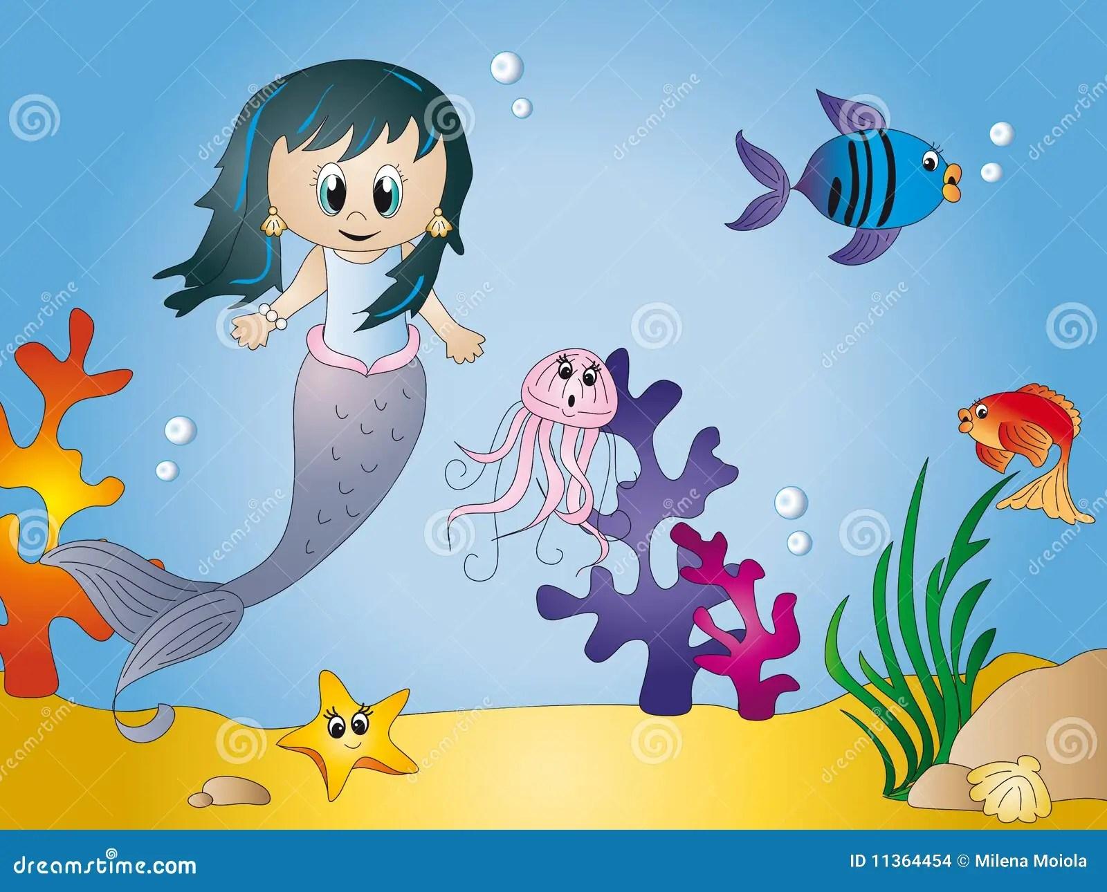 Seascape Cartoon Stock Images Image 11364454