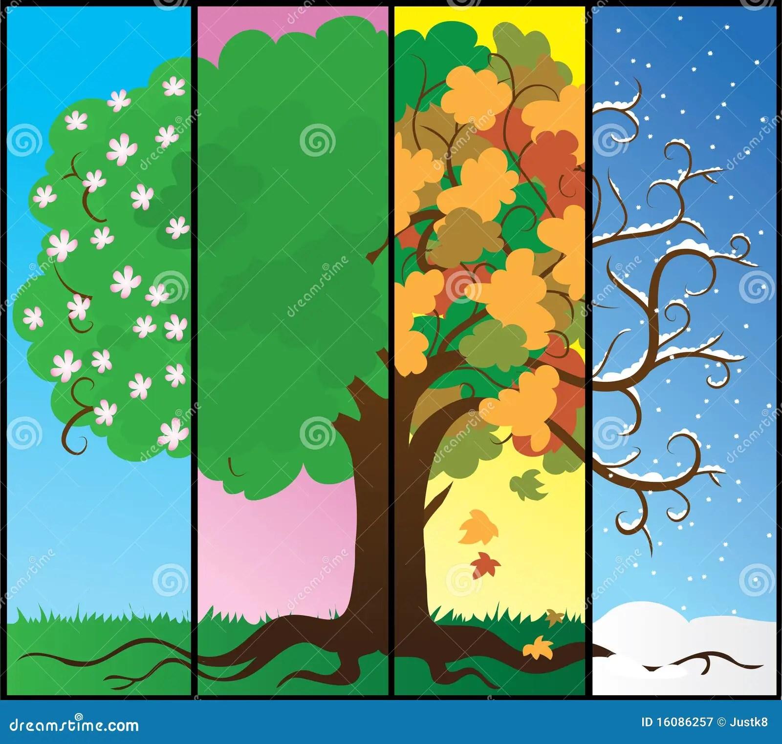 Seasons Tree Royalty Free Stock Photography