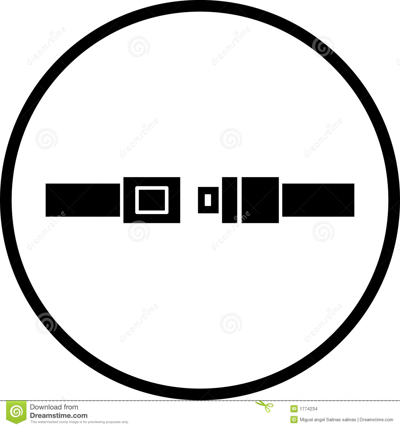 Seat Belt Vector Symbol Stock Vector Illustration Of Security