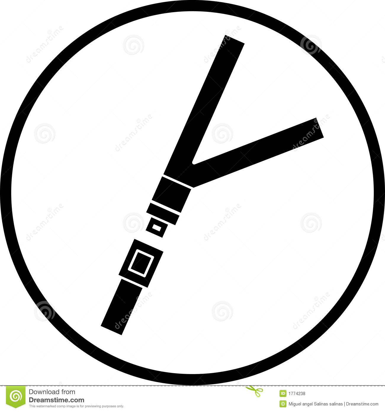 Seat Belt Vector Symbol Stock Vector Image Of Belt