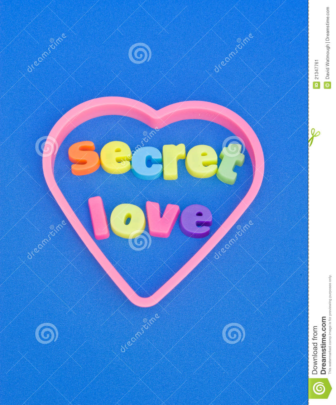 Secret Love St Valentine S Day Message Stock Image
