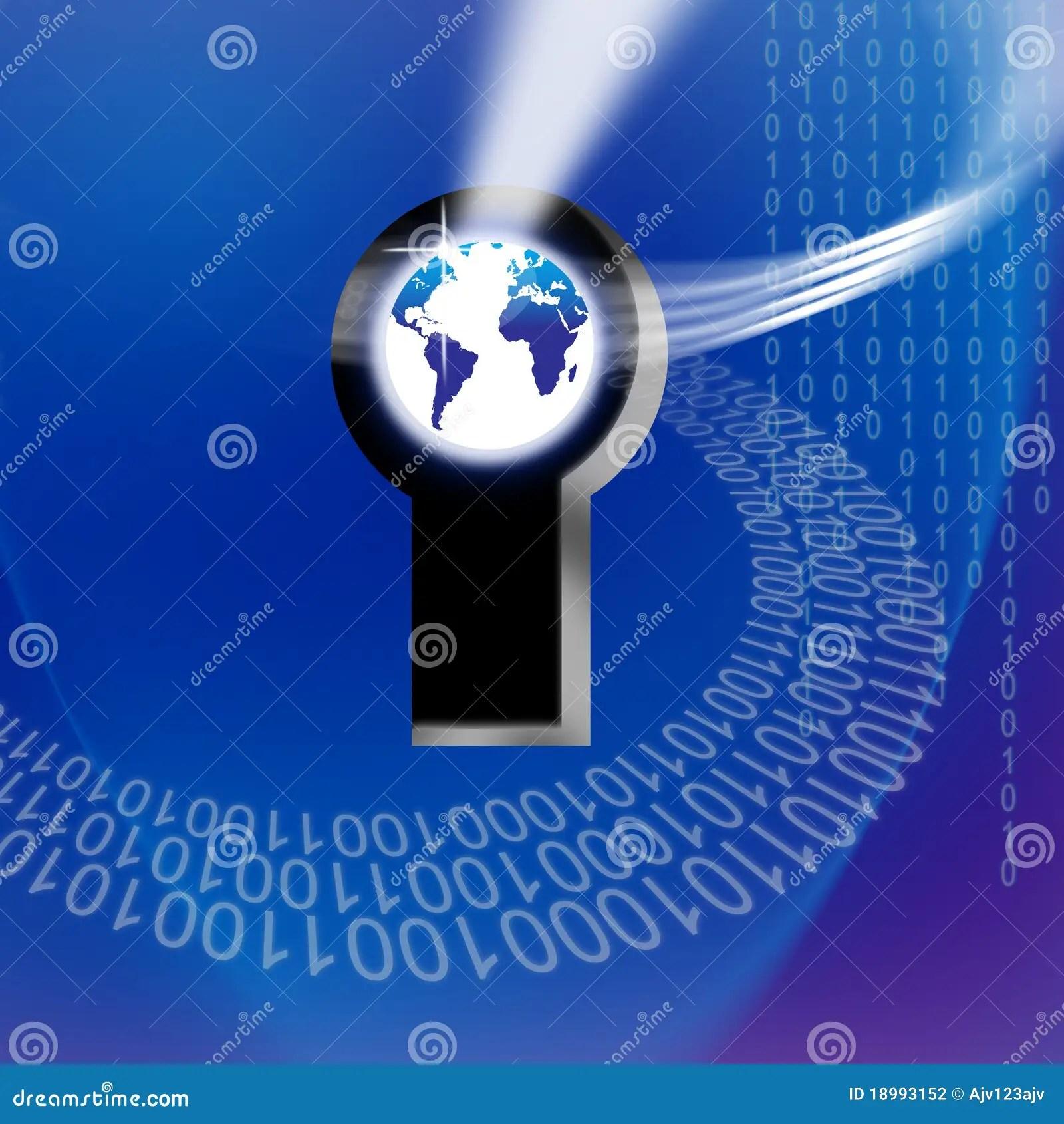 Secure Global Information Technology Key Stock Illustration Image 18993152