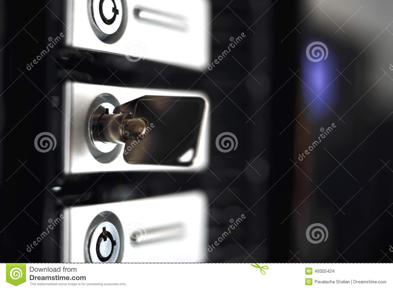 secured data with key from server rack stock photo image of computer racks 49305424